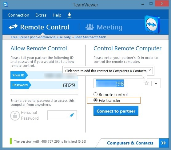 Transfer files using TeamViewer picture1