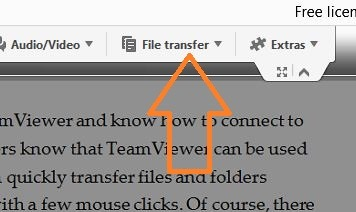 how to use teamviewer to transfer files