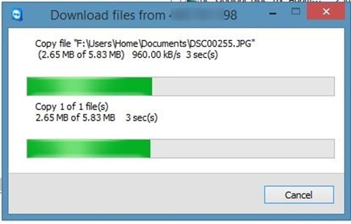 Transfer files using TeamViewer picture5