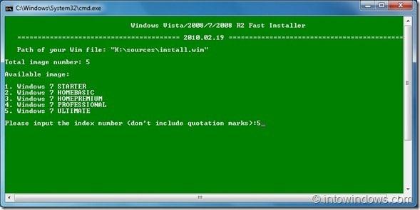 live Windows 7 usb custom installer