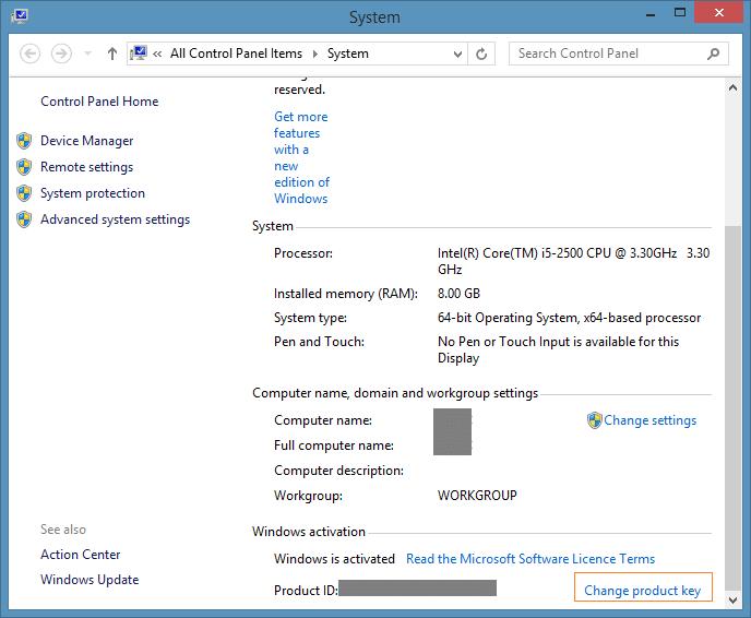 windows 8.1 professional generic key