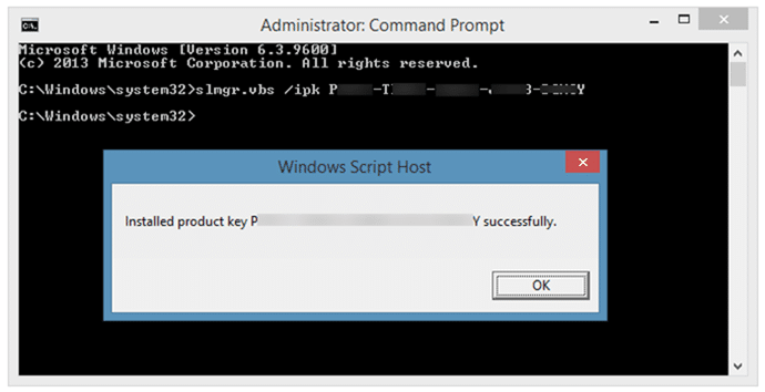 Change product key in Windows 8 8.1 method 3