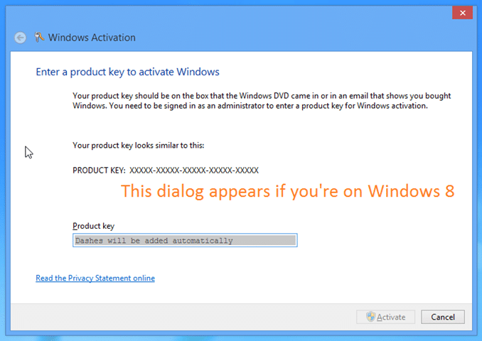 Change product key in Windows 8 8.1