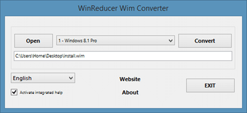 Convert Install.esd to install.wim using Wim Converter