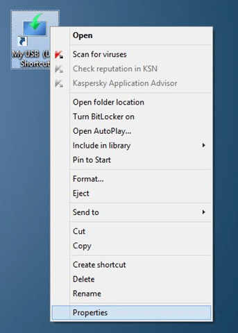 Create Keyboard Shortcut to open USB drive in Windows step6