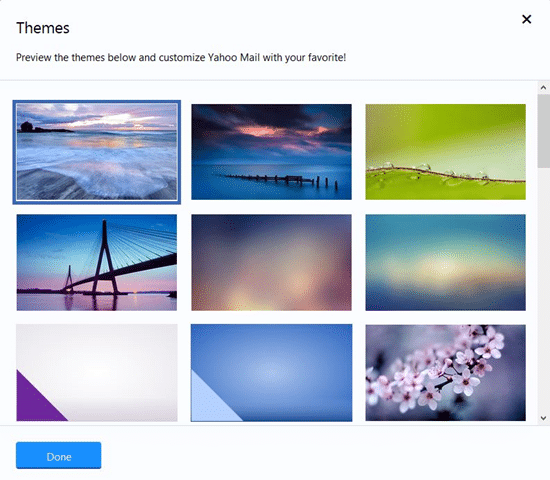 Customize Yahoo Mail with new themes2
