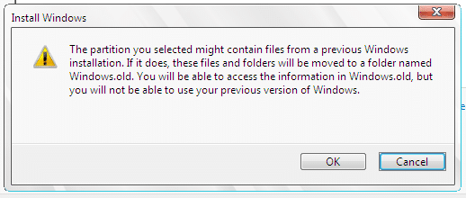 Install Windows formating the drive2