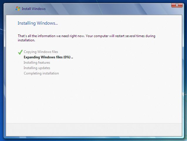 Install Windows formating the drive3