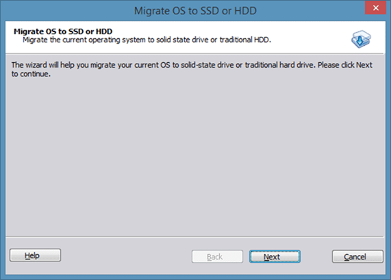 Migrate Windows 8 to SSD using Partition Assistant step2