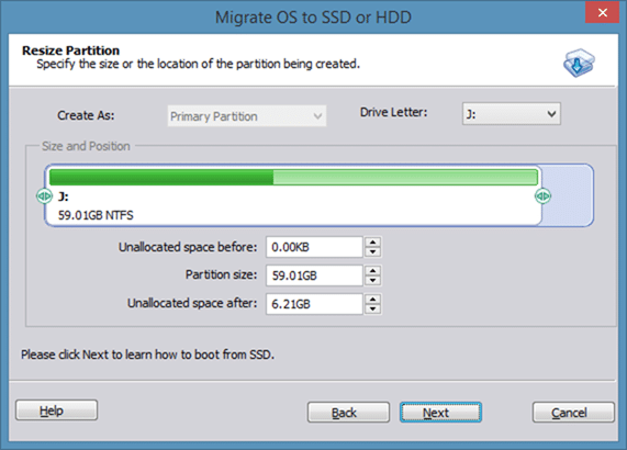 Migrate Windows 8 to SSD using Partition Assistant step4