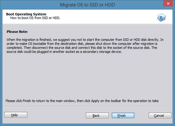 Migrate Windows 8 to SSD using Partition Assistant step5