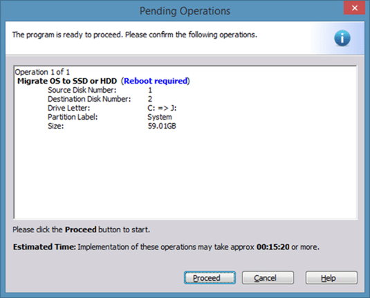 Migrate Windows 8 to SSD using Partition Assistant step7