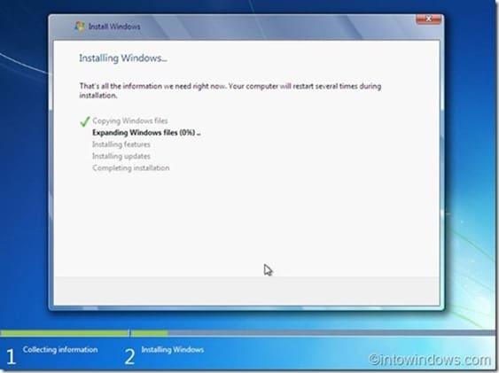 Reinstall Windows 7 without product key step10