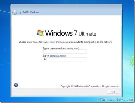 Reinstall Windows 7 without product key step11
