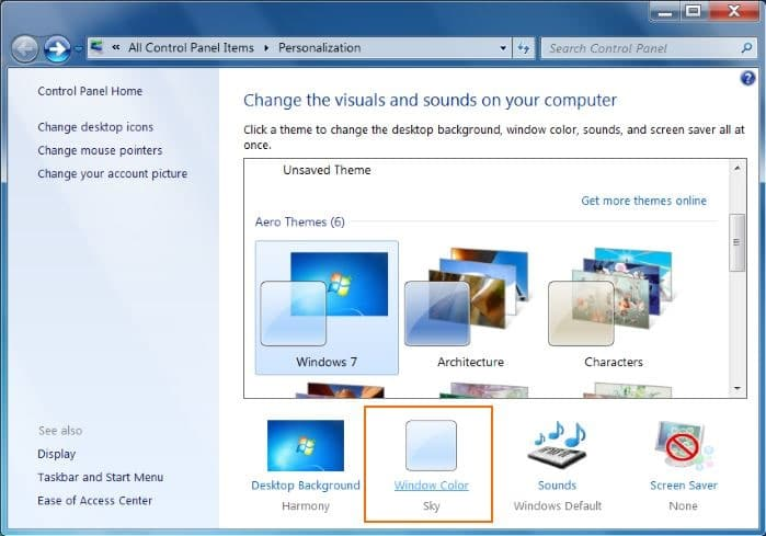 windows 7 how to change icon size