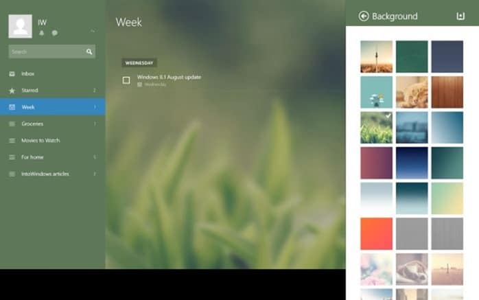 Wunderlist app for Windows 8 8.1 picture2