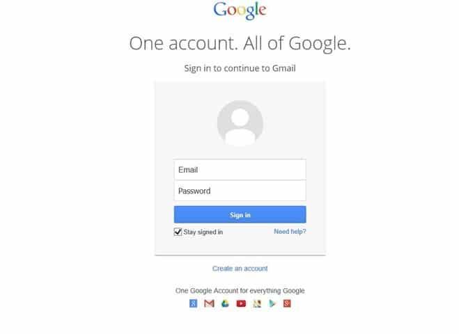 Change Gmail password step1