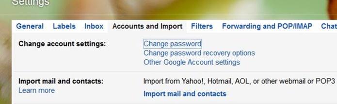 Change Gmail password step3