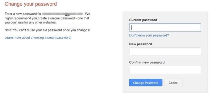 Change Gmail password step4