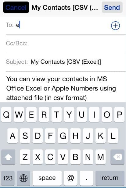 Export iPhone Contacts As CSV (Excel) To Windows 10 PC