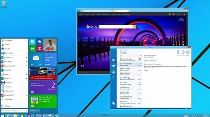 You can disable the Start menu in Windows 9