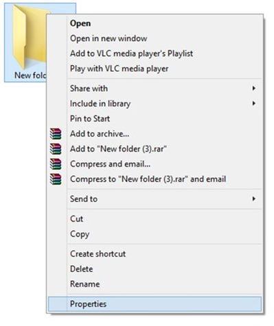 change folder icon in Windows 7 or Windows 8 step1