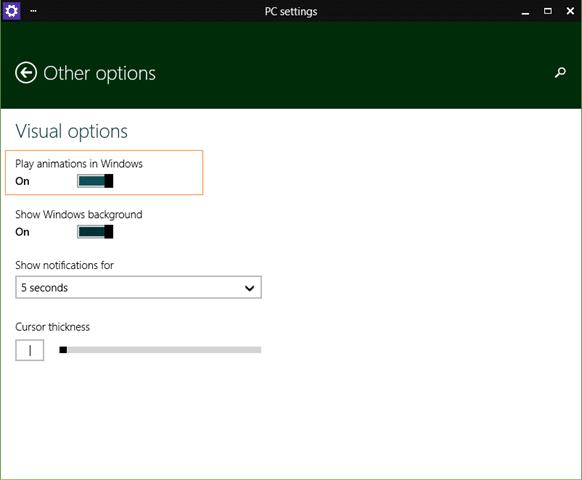 Disable animations when maximizing minimizing step7