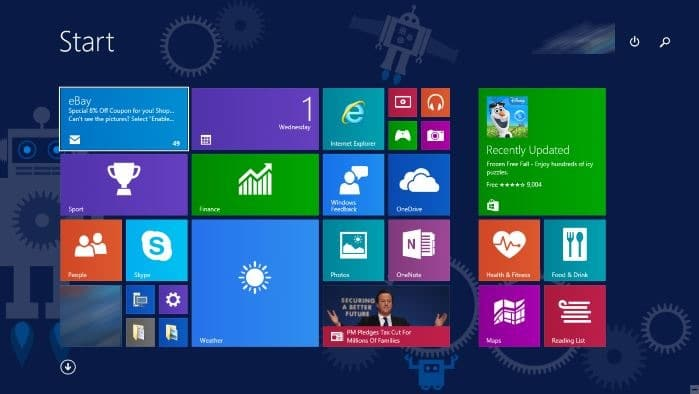 How to enable start screen in windows 10 for Window opens off screen