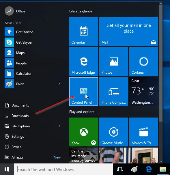 How to Change Windows 10 Start Menu Settings