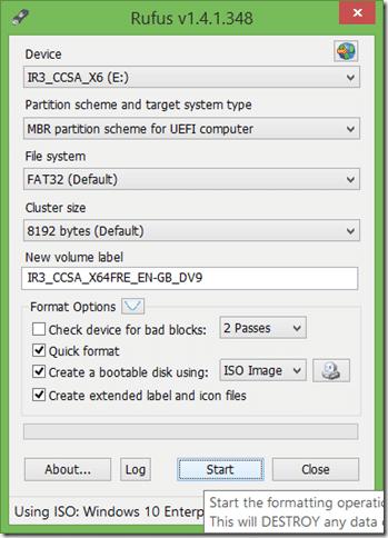 UEFI bootable USB of Windows 10