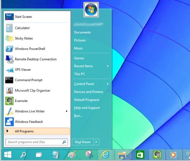 Windows 7 Start menu for Windows 10 picture1