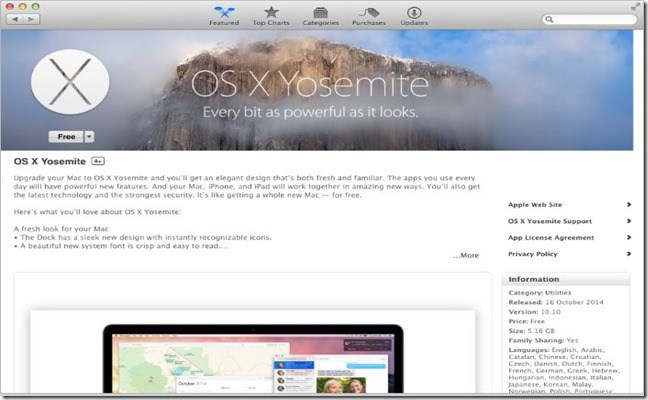 download OS X Yosemite on your mac picture2