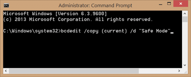 Add safe mode to Windows 10 boot menu step1