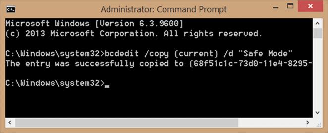 Add safe mode to Windows 10 boot menu step2