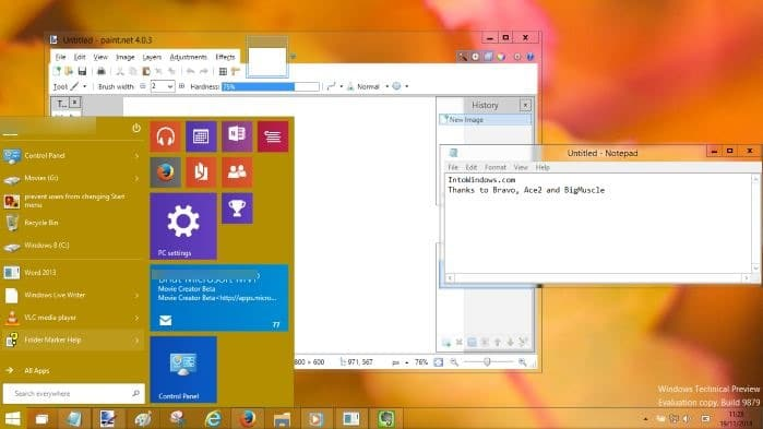 Aero glass in Windows 10 right now
