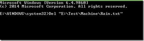 Delete a file from Command Prompt in Windows picture01