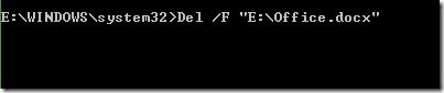 Delete a file from Command Prompt in Windows picture2