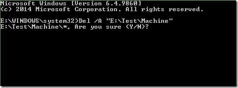 Delete a file from Command Prompt in Windows picture5