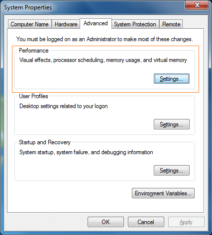 Disable Alt Tab Preview in Windows 7 step3