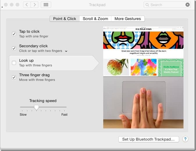 Disable or enable Mac trackpad gestures pic3