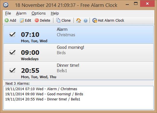 Alarm clock for windows 7 32bit