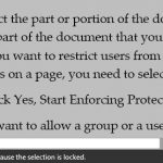 How To Lock Parts Of A Word Document In Office 2013
