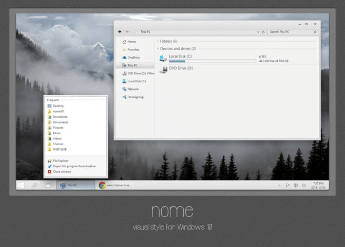 Nome theme for Windows 10