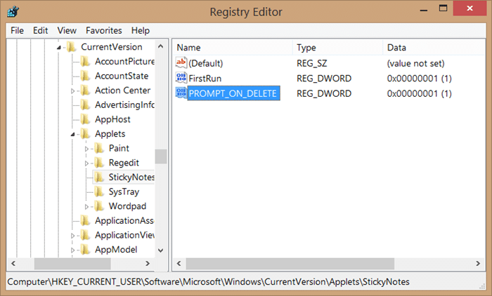 Recover deleted sticky notes in Windows step5