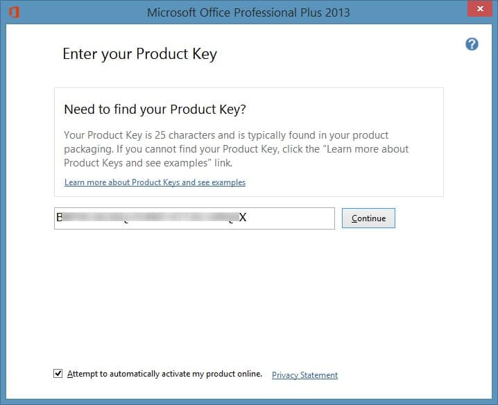 Microsoft word says my product key is wrong : ?