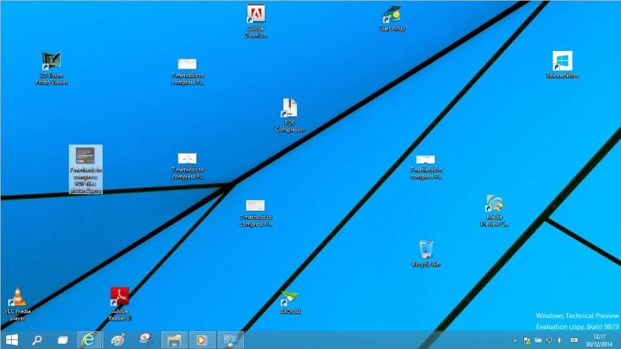 Create keyboard shortcut to show or hide desktop icons