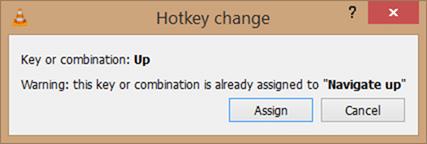 Customize VLC player keyboard shortcuts step4