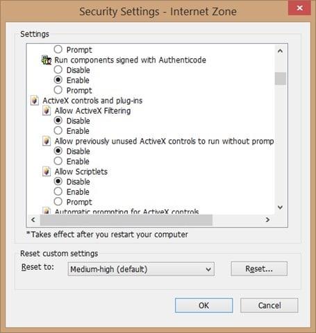 Enable Adobe Flash Player in Internet Explorer step7