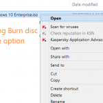 "Fix: ""Burn Disc Image"" Option Missing From Context Menu"