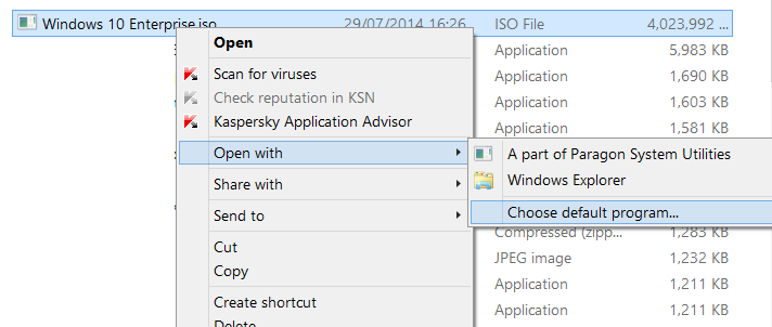 Fix to missing burn disc image option in context menu picture4
